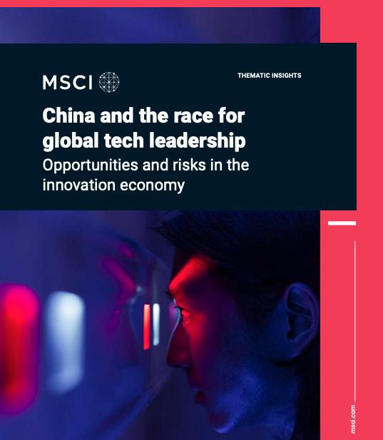 MSCI China race for global tech